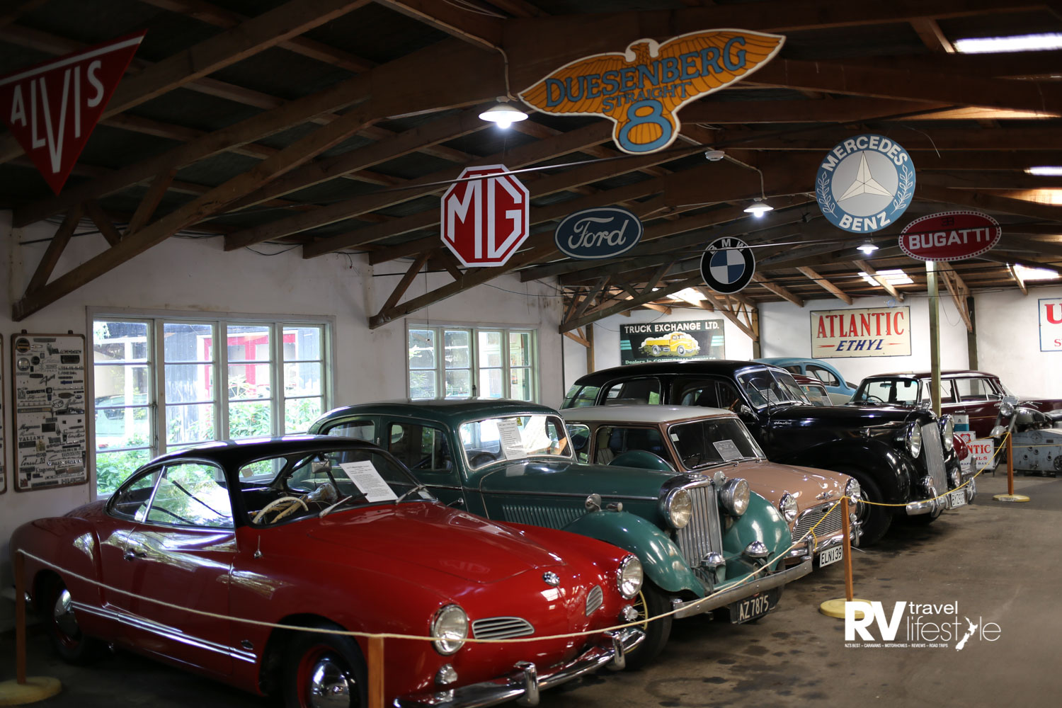 There are more than 150 motor vehicles in the collection