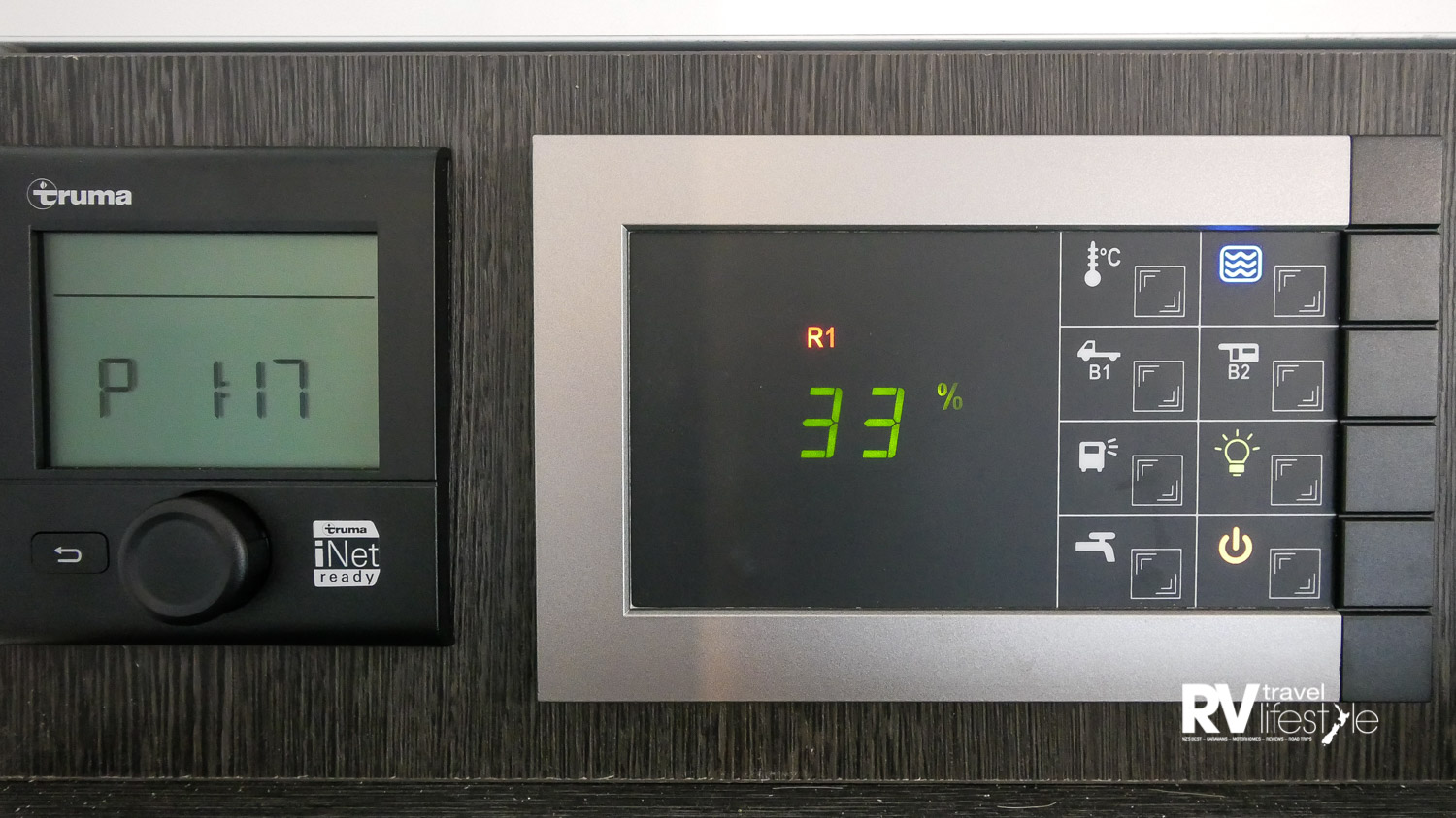 Simple-to-use control panel and heating unit