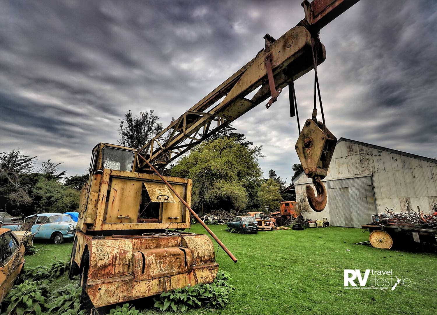 Wherever you look there is machinery and equipment from yesteryear