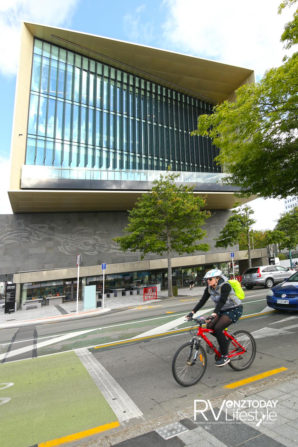 Tūranga public library provides an impressive central feature of the city