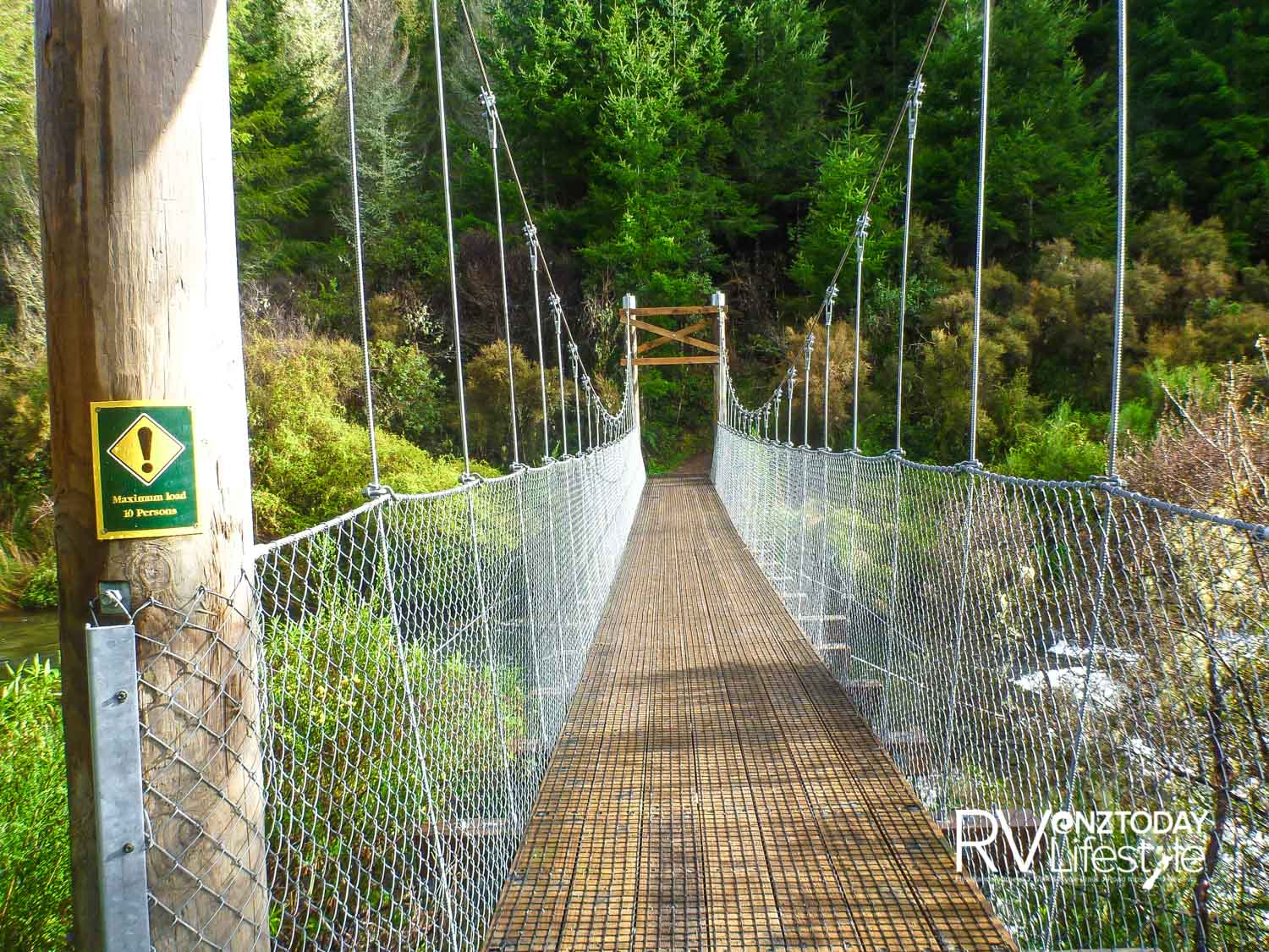 Waihaha suspension bridge – gateway to the gorge