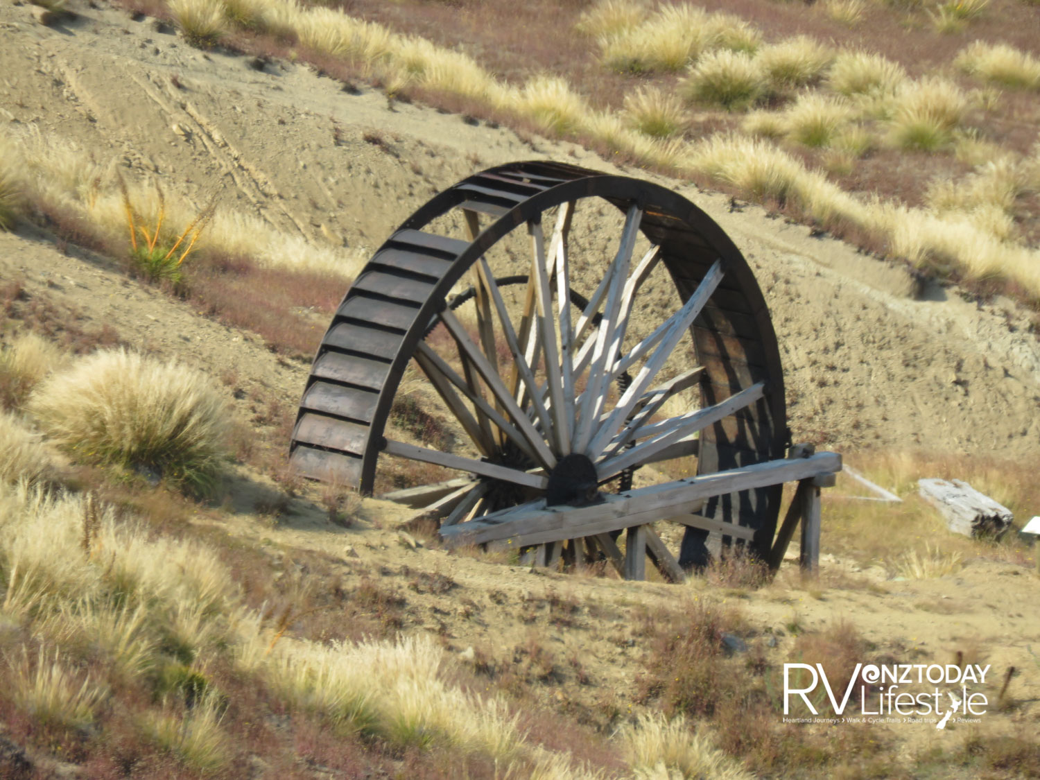 Waterwheel at the Young Australian mine workings