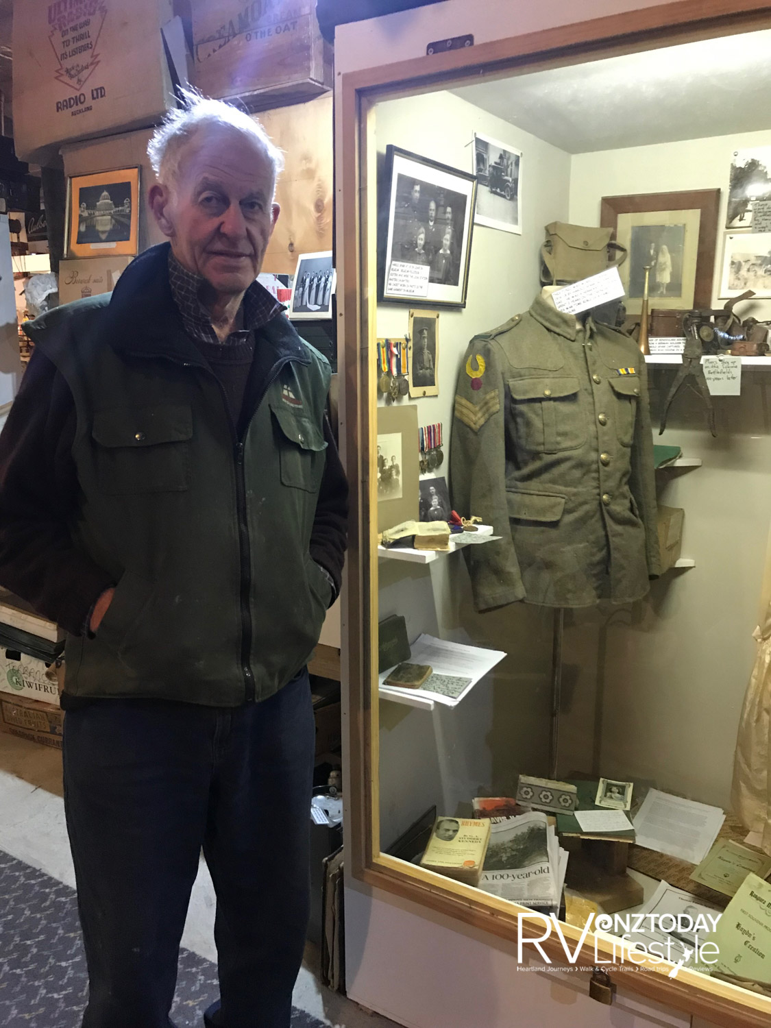 Richard Spark and his father's jacket from the war