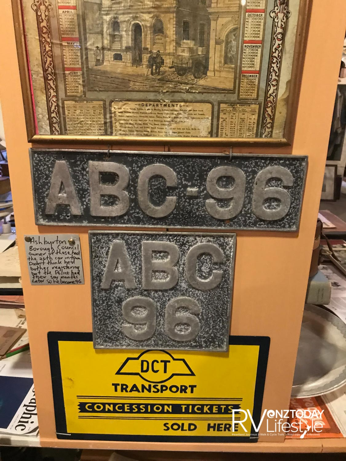 Early number plates from Ashburton registered cars