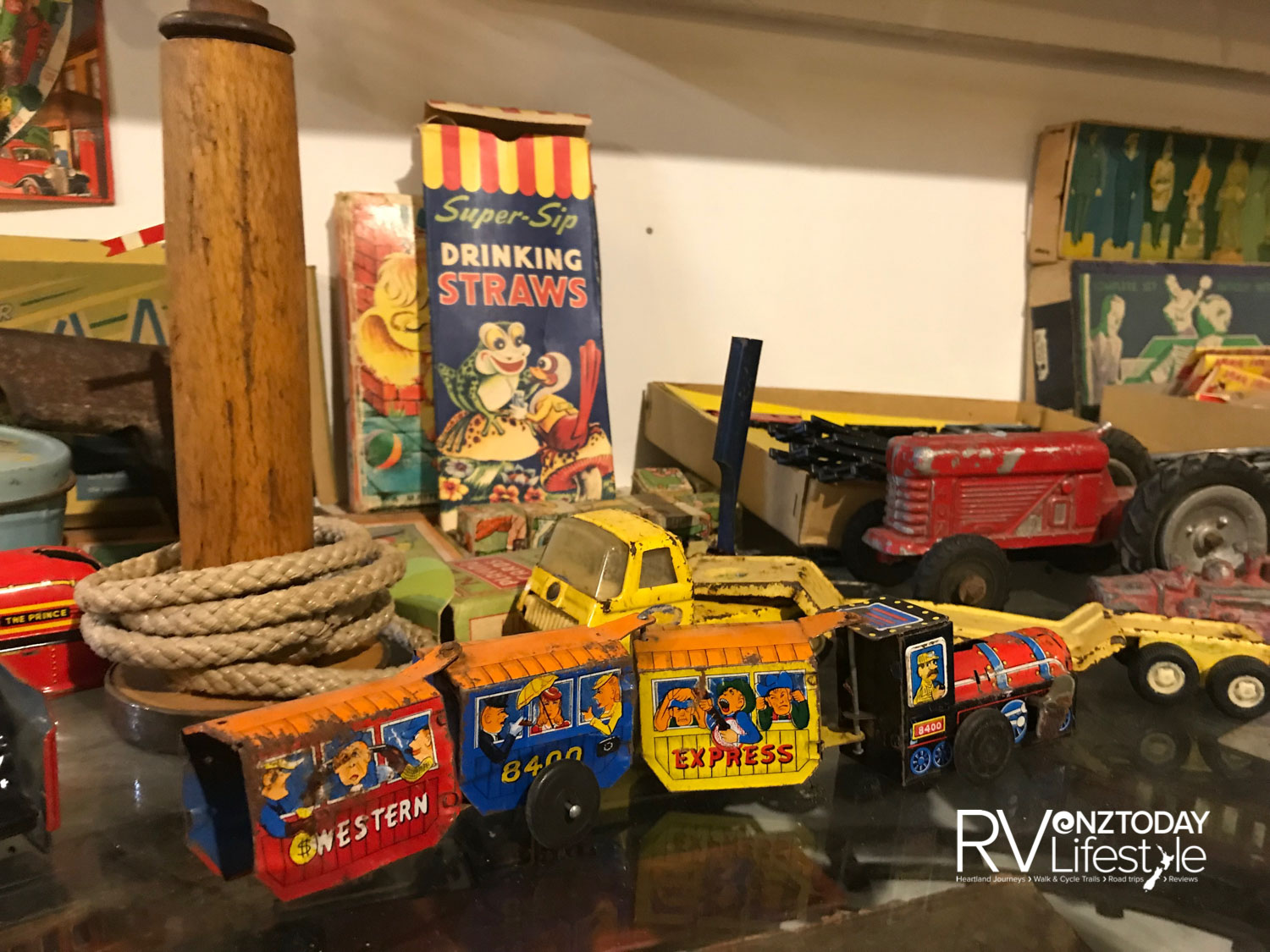 The collection also includes vintage toys