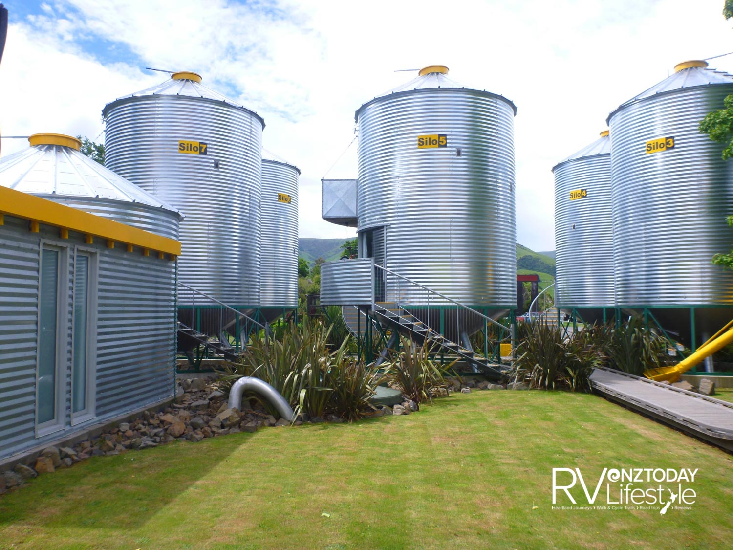 The quirky grain silos of Little River's SiloStay