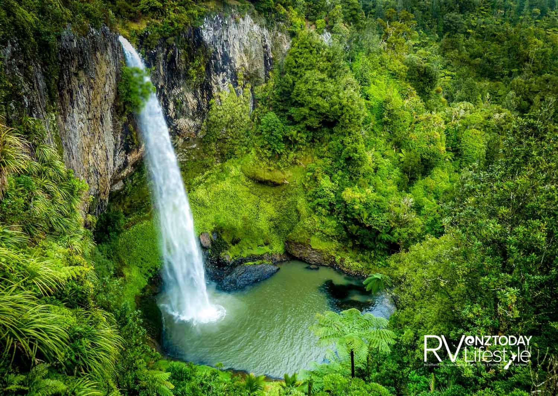 The magical pool at the base of Bridal Veil Falls