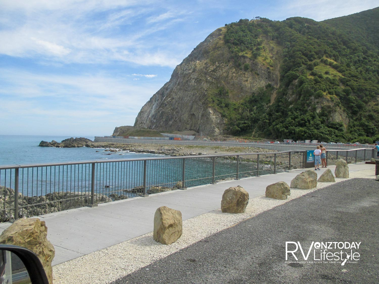Pull out area for seal watching on the Kaikōura coast