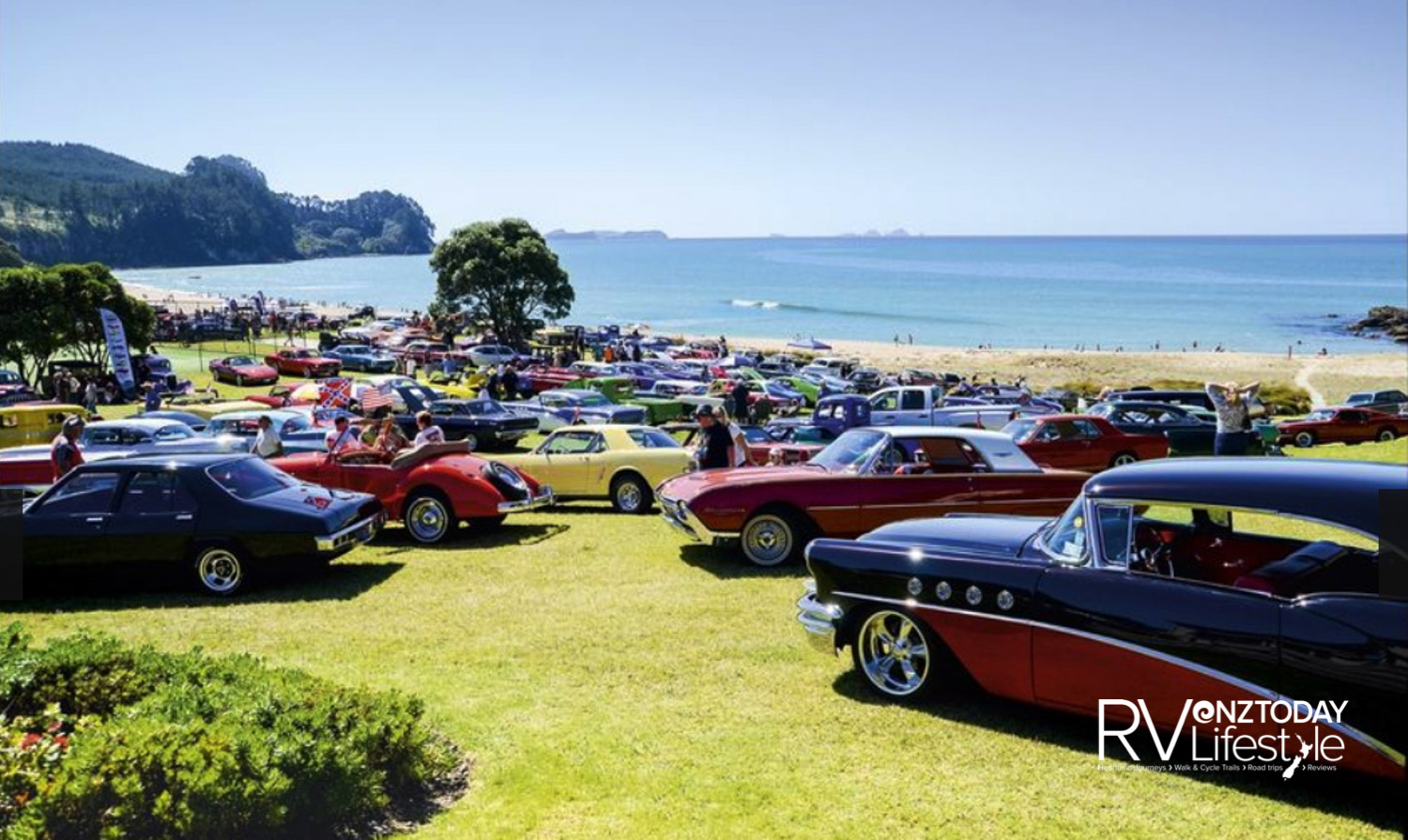 Whangamatā provides a stunning setting for the Beach Hop