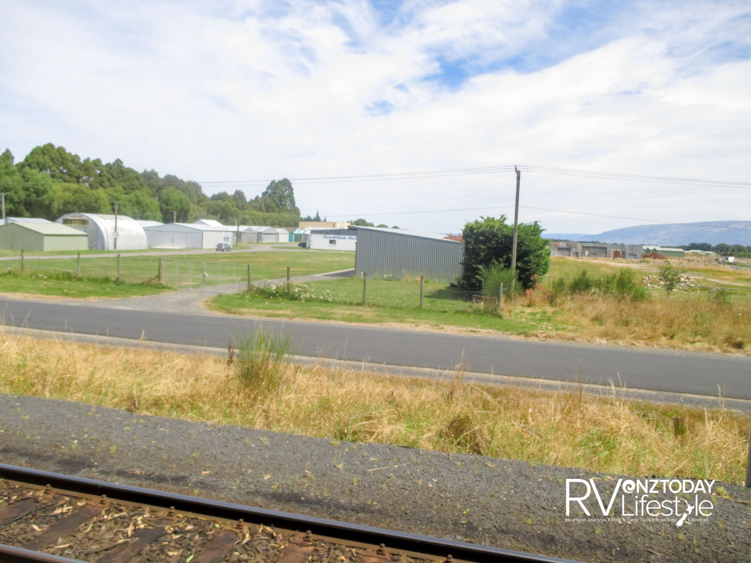 Passing the much reduced Taieri airfield
