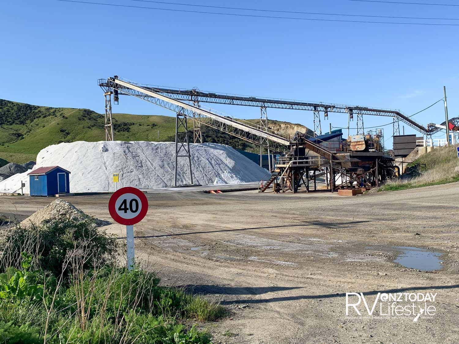 A mountain of salt at the Grassmere works