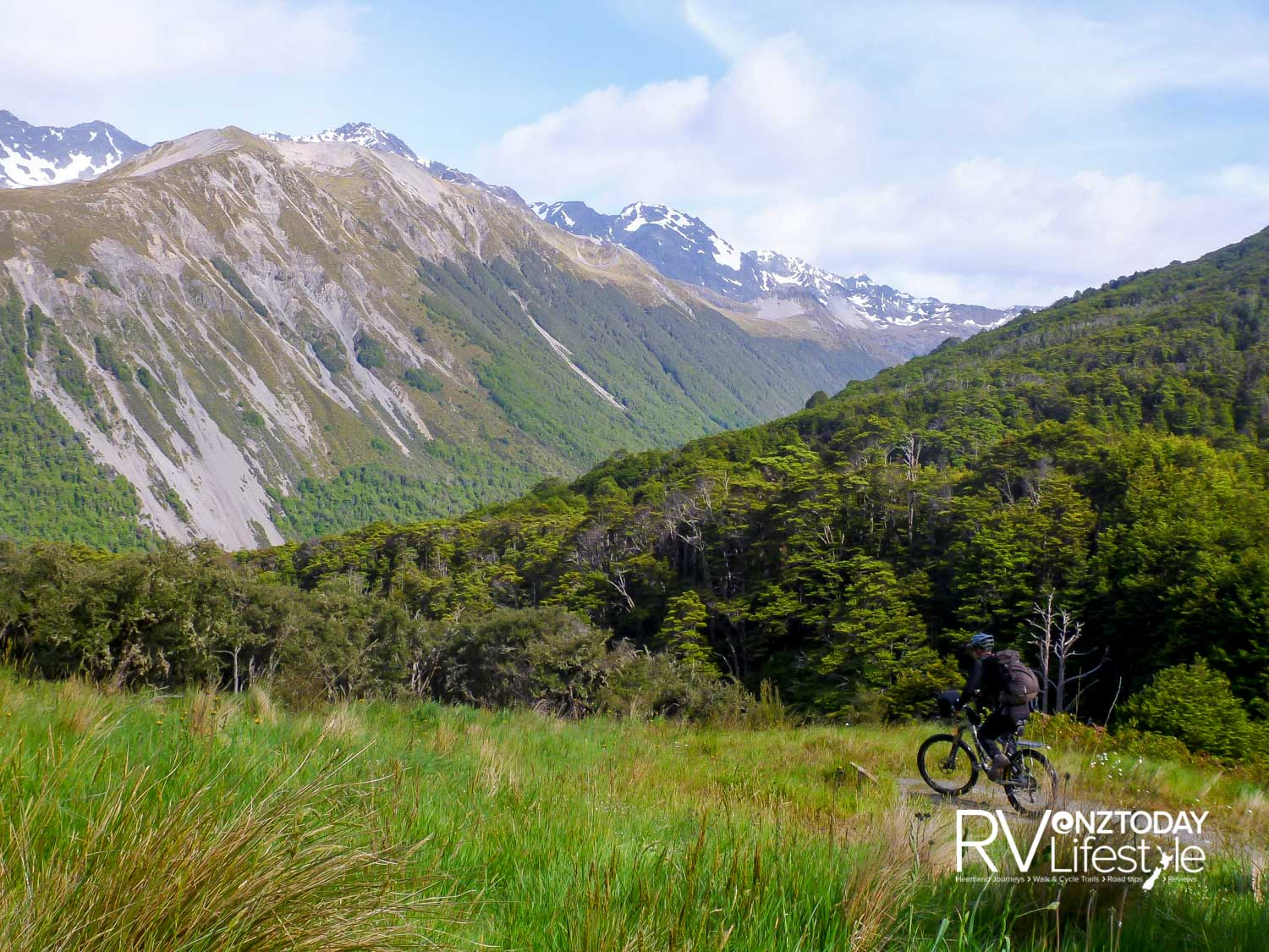 Freewheeling off the pass down to the river