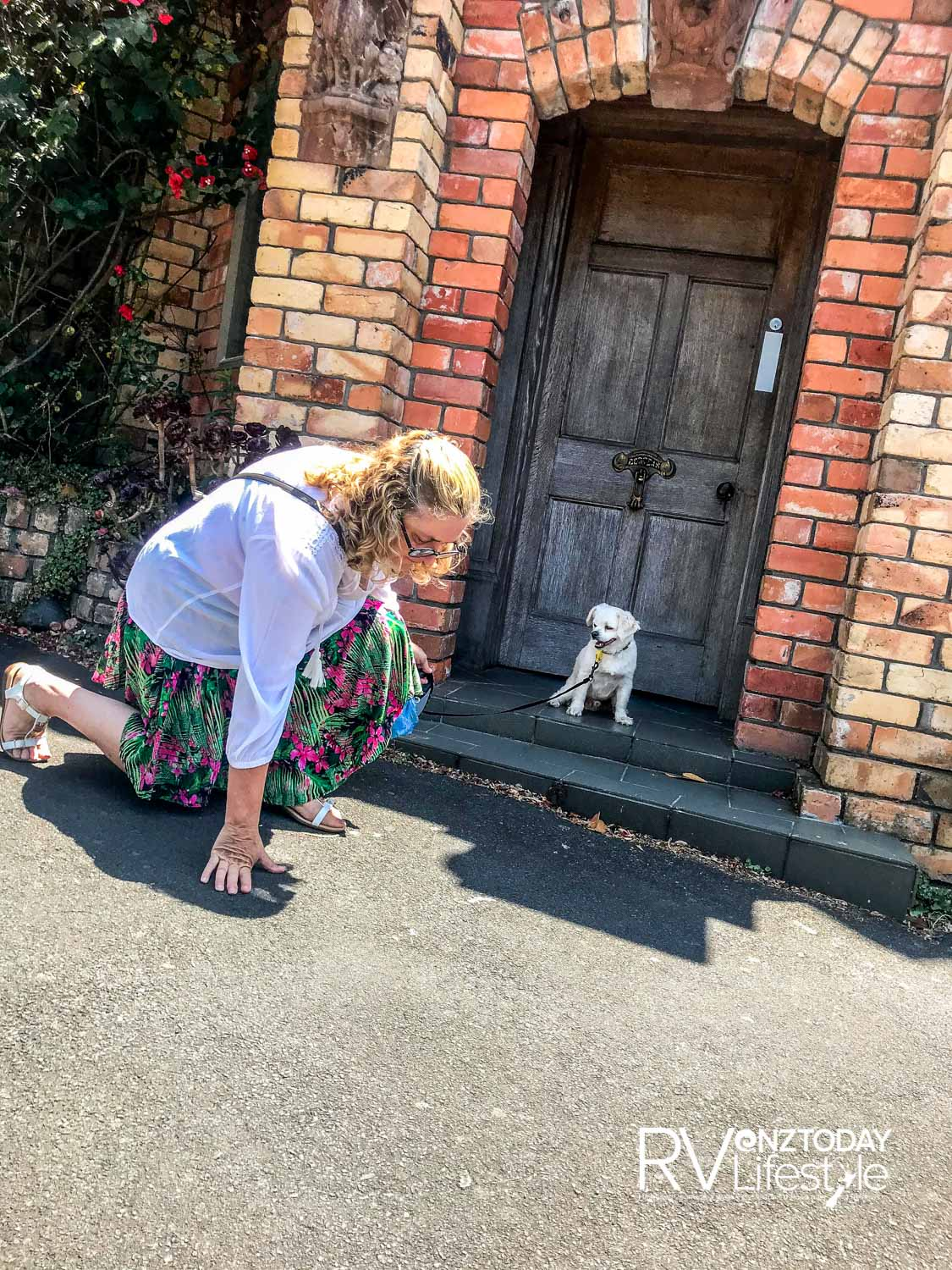 Thanks to da mama – she checks the footpath to make sure it's not too hot for my little feet