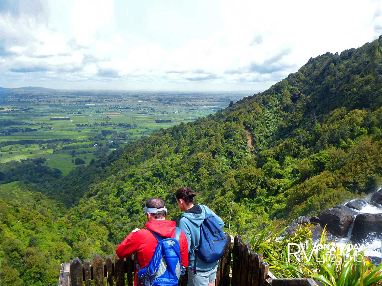Look over the top of the North Island tallest falls
