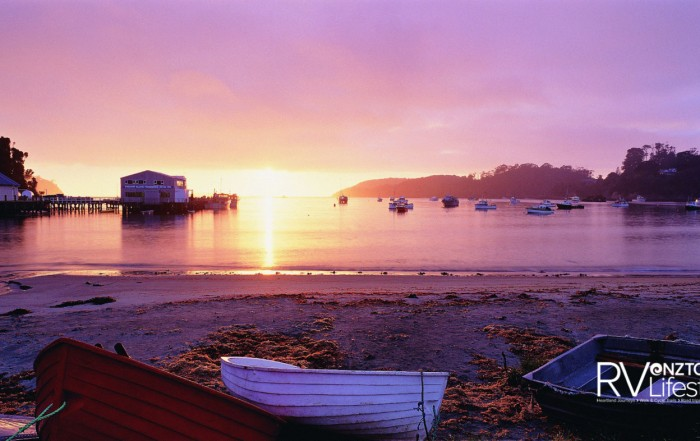 A peaceful morning at Halfmoon Bay, Stewart Island. Photo: Stewart Island Tourism