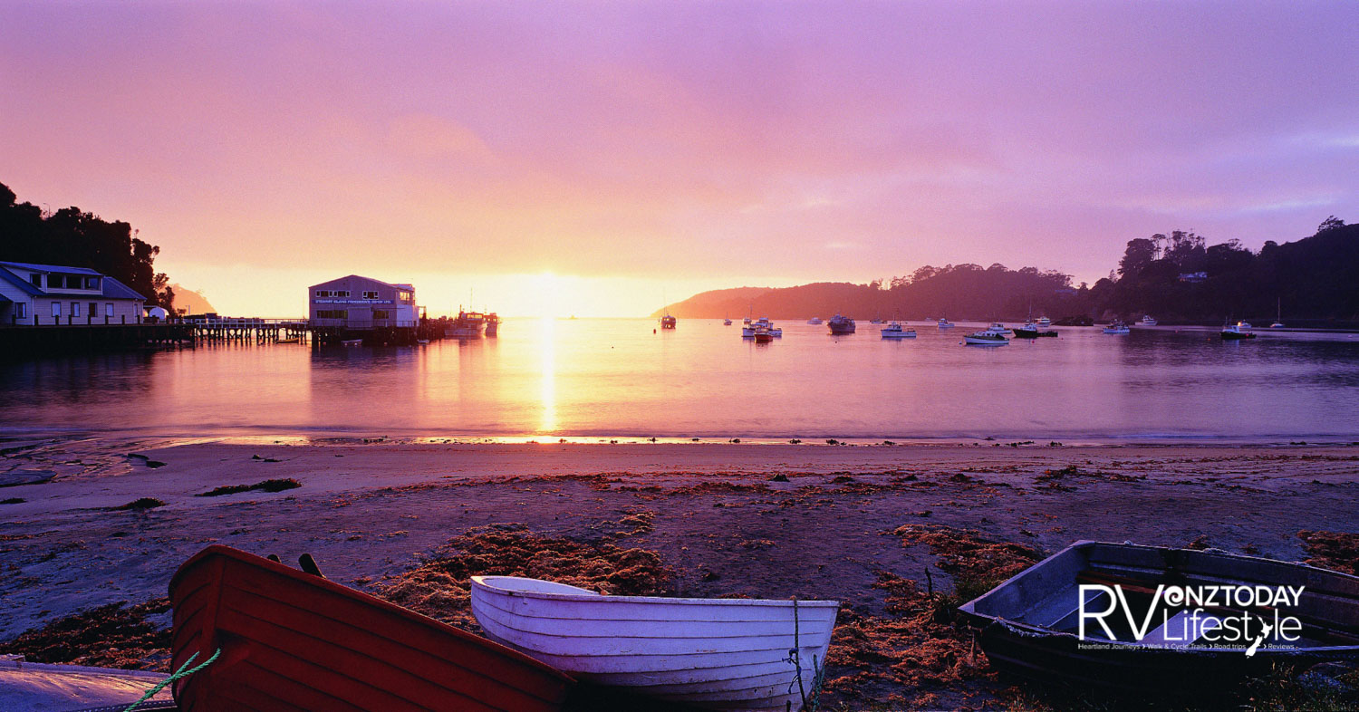 A peaceful morning at Halfmoon Bay, Stewart Island. Photo: Stewart Island Tourism