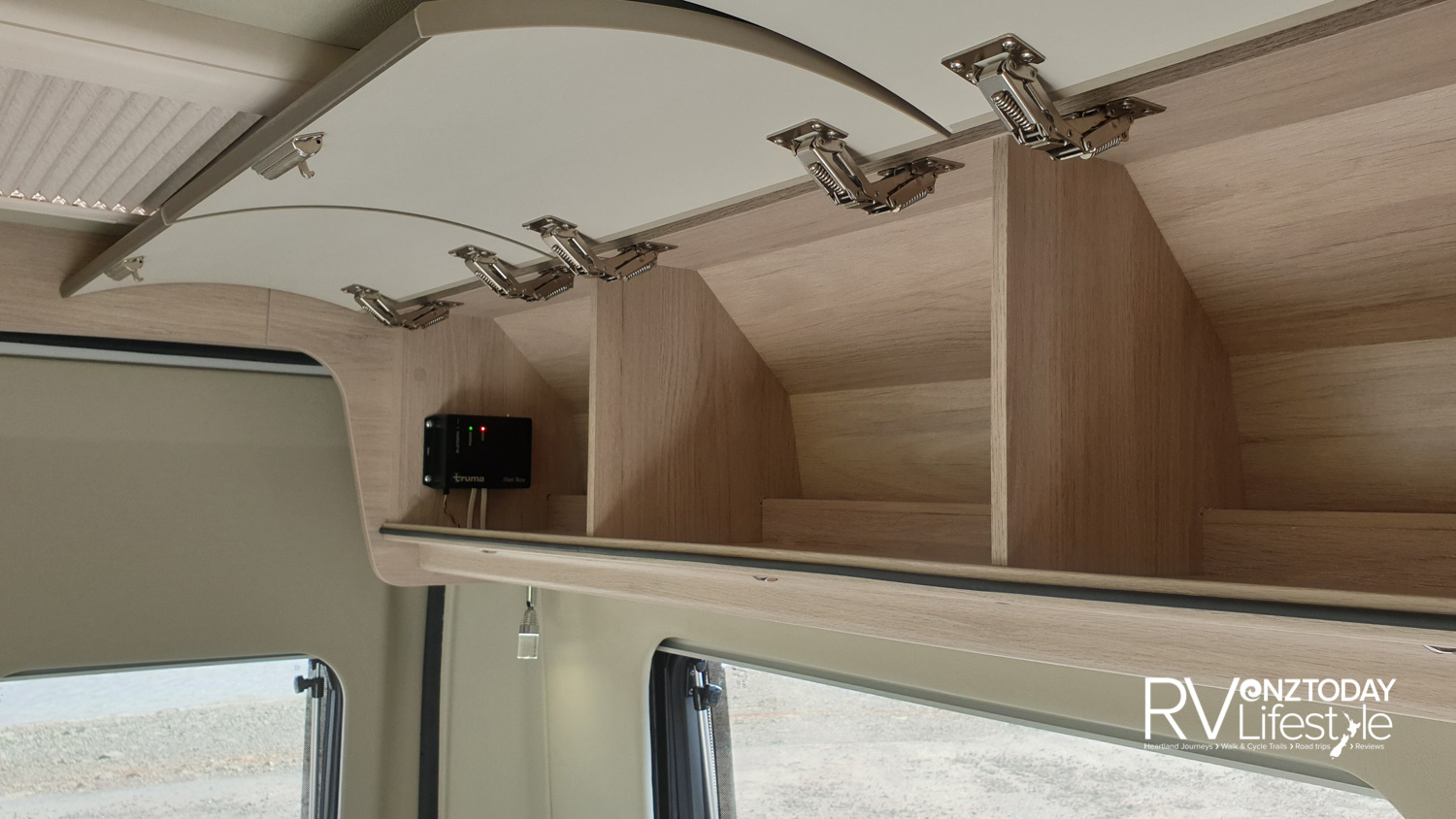 Good rear storage overhead and LED reading lights