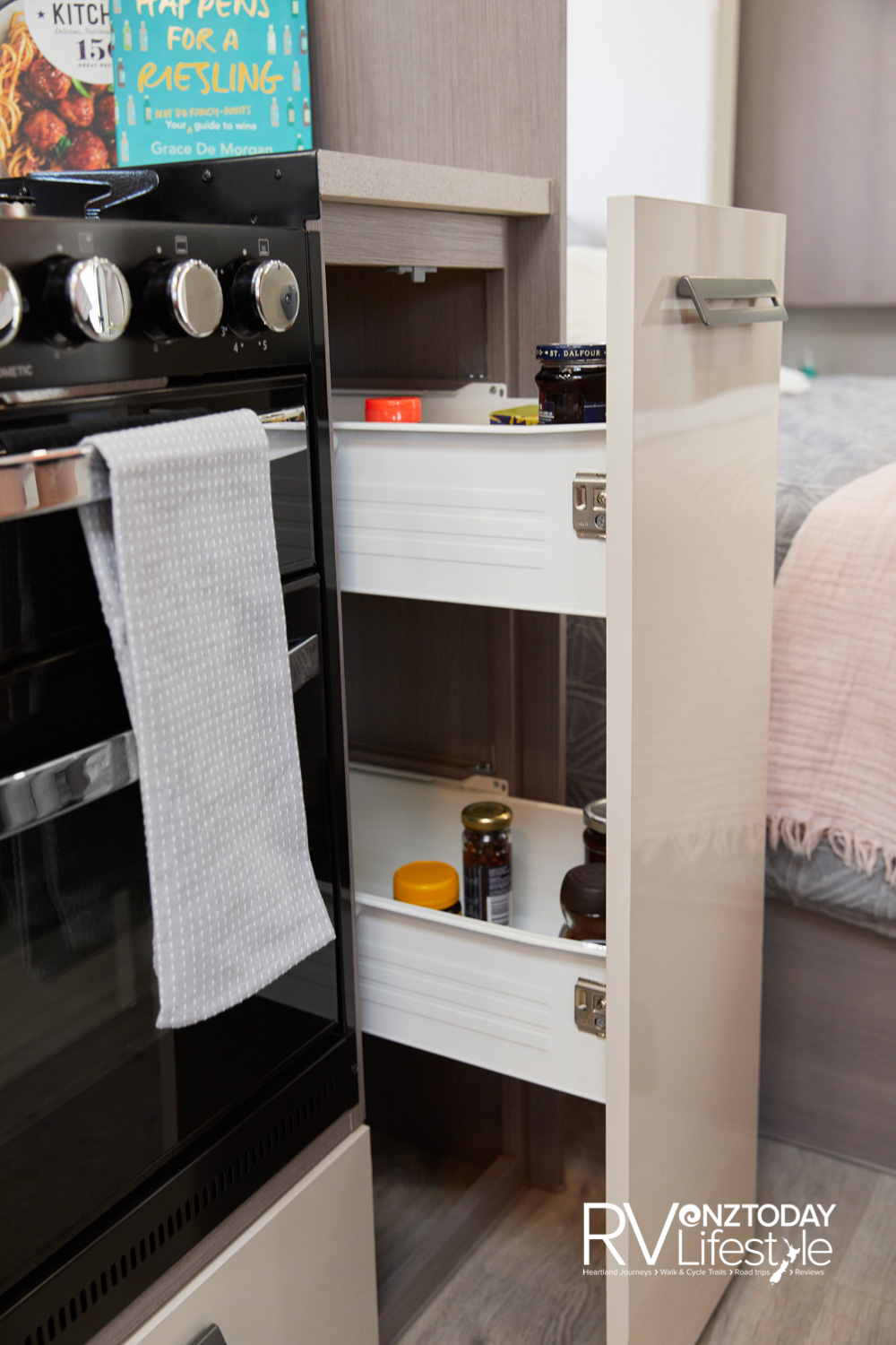 I just love a pull-out pantry unit, there are two in this kitchen