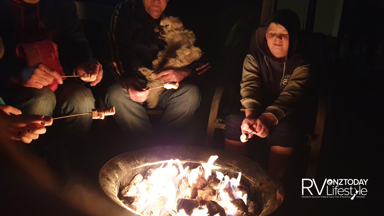 The fire was so warm, I wasn't allowed a marshmallow though