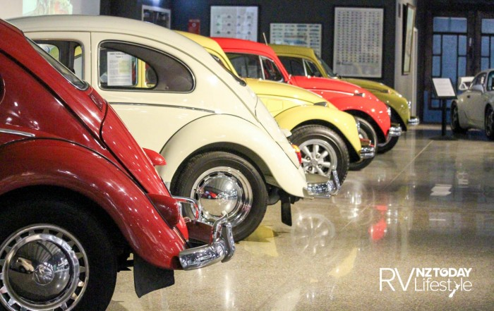 Back and front — VW Beetles in a row
