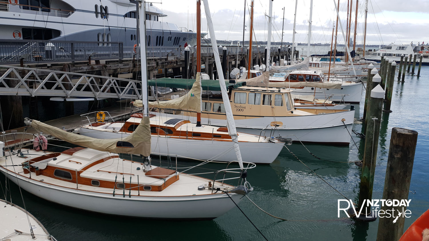 Silo marina in Auckland's Viaduct, always interesting to see what boats are moored in here